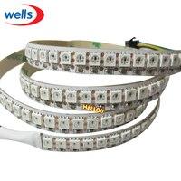 Schneller Versand Großhandel 1 Mt 5050 RGB 144 LEDs WS2812B Chip WS2811 DIGITAL-5050 RGB LED Streifen Licht 144 Pixel DC5V