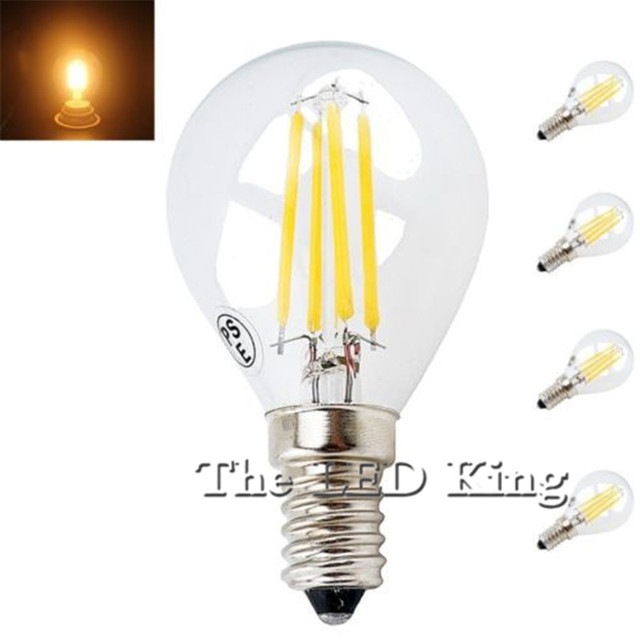 Super Bright E27 G45 12W 6W 18W Warm White Dimmable E14 COB LED Filament Retro Edison Bulbs AC 220V Filament Vintage Light 230V