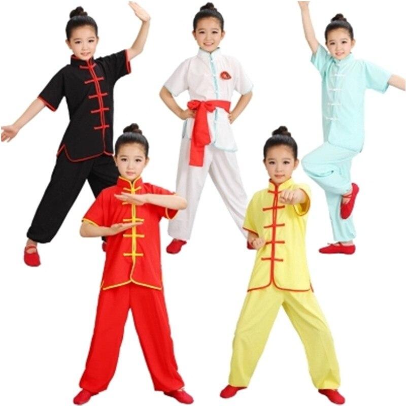 Παιδικά Κινέζικα Παραδοσιακά Wushu Ρούχα για Παιδιά Πολεμικές Τέχνες ... 0020fe82bc3