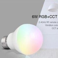 Mi Light FUT014 E27 6W RGB CCT Led Bulb Lamp Smart Mobile Phone APP WIFI AC85V