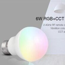Mi Light FUT014 E27 6W RGB+CCT led bulb lamp smart mobile phone APP WIFI AC85V-265V led light white warm Dimmable Lampada Light
