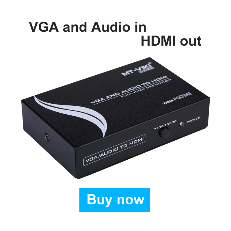 VGA + Audio to HDMI Converter with Upsacaller VGA2HDMI Adapter FHD 720p 1080p 5V Power Supply High Quality MT-Viki VH312