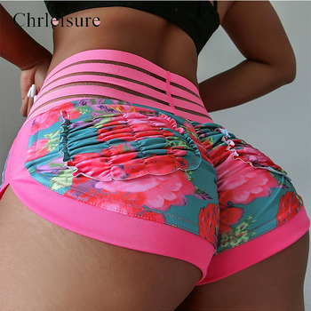 Chrleisure Women Shorts High Waist Booty Summer Print Sexy Shorts Hot Ladies Spandex Shorts Mini Lace Skinny Short