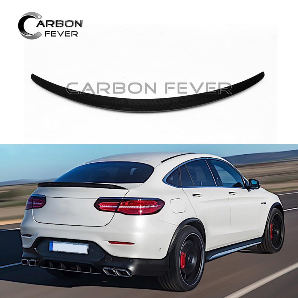 For Mercedes Benz Glc Class Coupe Glc300 Glc250 Spoiler: For Mercedes C253 Carbon Fiber Rear Trunk Spoiler Wing GLC