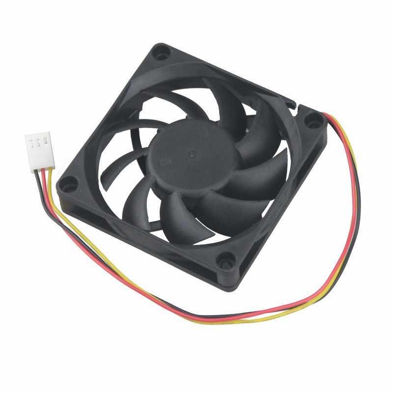 Gdstime 1 Pcs 70 มม. x 15 มม. 3Pin DC 12 V 70x70x15 มม. สามสาย FG Brushless คอมพิวเตอร์ Cooling Fan 7015