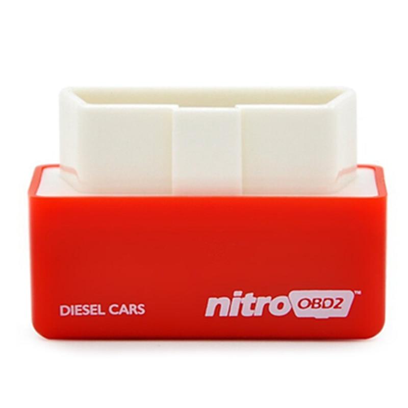 Prix pour Super ÉCO Nitro OBD2 Benzine Chip Tuning Moteur Nitro OBD 2 Plug & Lecteur OBD2 Performance Chip Tuning Box Plug Lecteur Voitures Diesel