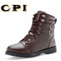 CPI 2017 New Winter British Style Fashion Design Men S Martin Boots Casual Comfortable Waterproof Men