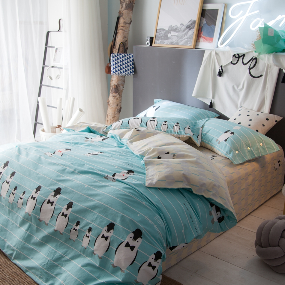 set quilt cot crib blue light ropa cuna product sets baby bedding comforter de pieces ocean fish