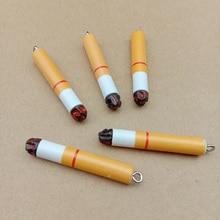 10pcs/lot Cartoon Smoke Design Charms Resin E-cigarette Pendants Fit Earring Unique Jewelry Accessories YZ191
