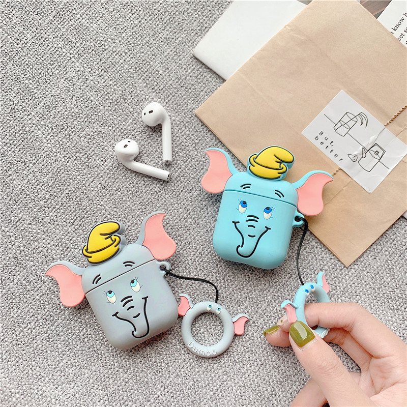 Cute Elephant Case For Apple Airpods Protective Cover