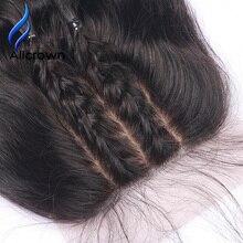 Alicrown волос Для тела волна Шёлковые подкладки три части с волосами младенца бразильский Волосы Remy Накладные волосы натуральный Цвет 8 ~ 20 дюймов