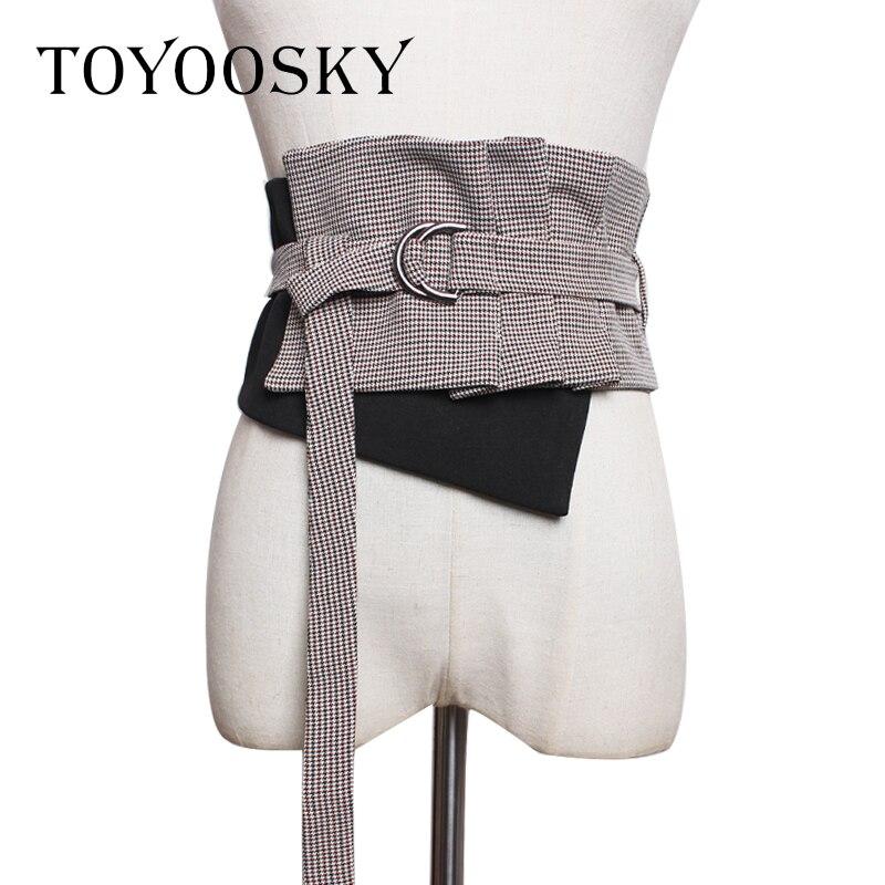 Luxury Women Belt Denim Cloth Wide Girdle for Dress Bandage Decorative Long Belt High Quality Wide Belt for Female TOYOOSKY in Women 39 s Belts from Apparel Accessories