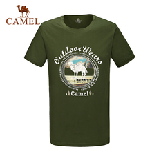 Camel outdoor T-shirt spring 2016 summer short-sleeve T-shirt Men breathable camping hiking t-shirt tops A6S2T7131
