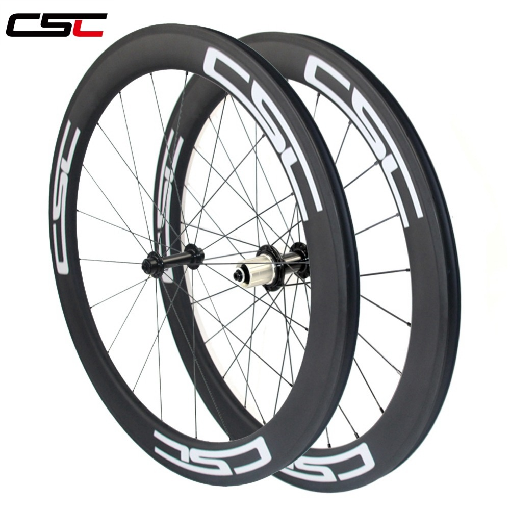 CSC 700C wide 25mm U shape deep 60mm Clincher Tubeless compatible Carbon Road Bicycle bike Wheels
