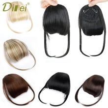 DIFEI Black Brown Fake Fringe Clip In Bangs Hair Extensions With High Temperature Synthetic Fiber