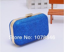 Fashion  Sweet Mini Clutch 7 Colors Evening Party bags Purse Powder Ball Evening Bag Box Women Leather Handbag shoulder wallets