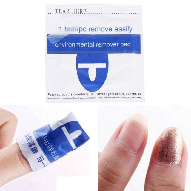 200pcs Cleaner Acetone Sponge Nails Cleaning Removal Wipes Nail Polish Remover Wraps Pad Nail Art Beauty Tools