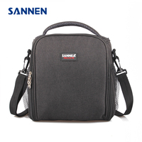 SANNEN 12L Cooler Meal Prep Insulated Bags Bento Lunch Bag Solid Thermal Lunchbox Food Picnic Tote