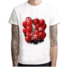 2017 IT Movie T Shirt Stephen King Print Joker Funny Tees pennywise Custom Tops clown costume T-shirt Clothing 3XL