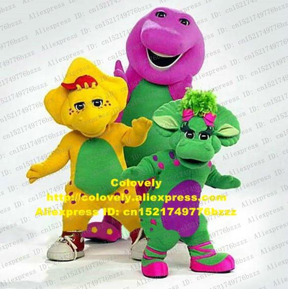 wise green yellow purple barney baby bop bob and bj dinosaur dino