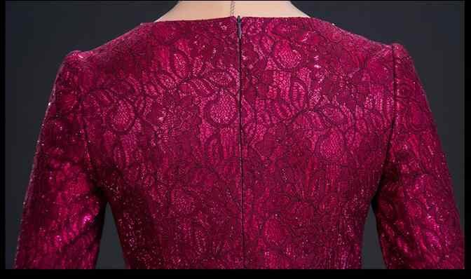 2019 patrón de encaje de madre vestido de boda rojo rosa de la madre de la novia vestidos 2018 apliques Formal elegante vestidos Fiesta