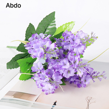 1Pcs  Lavender Artificial Flowers Branch Mother Day Home Decorating Lace Decorative Non-woven Fabrics