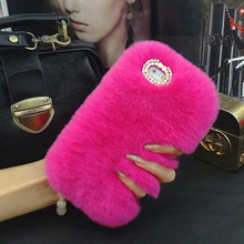 12 Colors Luxury Sexy Rabbit Fur Plush Phone Cases