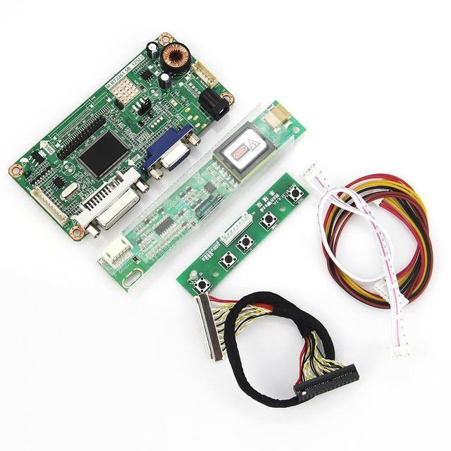 VGA + DVI M. R2261 M. RT2281 LCD/LED Controller Driver Board Para B154EW08 LP154WX4-TLC1 1280x800 LVDS Monitor de Reaproveitamento Laptop