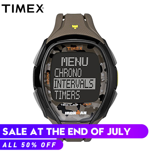 c630692c3388 2018 Para Timex Ironman Originais Mens Relógios Tw5m011 Sleek 150 Workout  Correr Desporto Ao Ar Livre