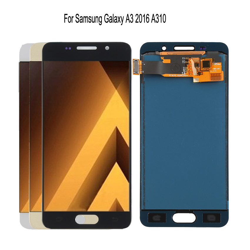 Original <font><b>AMOLED</b></font> For SAMSUNG Galaxy A3 2016 LCD <font><b>Display</b></font> Touch Screen A310 <font><b>A310F</b></font> SM-<font><b>A310F</b></font> LCD Digitizer Replacement Phone Parts image