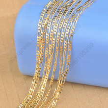 Hot Sale 5 Pcs /Lot 24 Inch Heavy18K Yellow Gold Filled Figaro Necklace Chains For Pendant Women/Men Chain Necklace