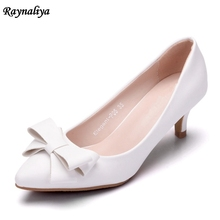 Spring Summer Women Pumps Sweet Bowknot High-heeled Shoes White High Heel Shoes Pointed Stiletto Elegant 5cm XY-A0010 2018 fashion delicate sweet bowknot high heel shoes side hollow pointed stiletto heels shoes women pumps