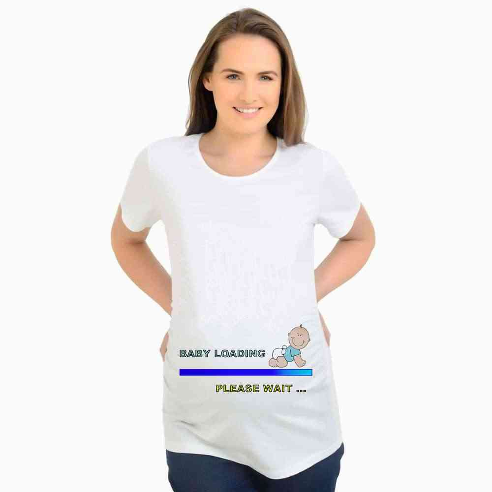 8c4a3c34 ... Summer Cute Baby Loading Maternity T-shirts Tees Women Maternity  Clothes Tops Funny Pregnancy baby ...