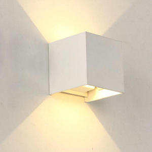 Image 5 - Dimmable COB IP67 קוביית מתכוונן צמודי חיצוני LED תאורת LED מקורה קיר אור עד למטה 15W LED קיר מנורה