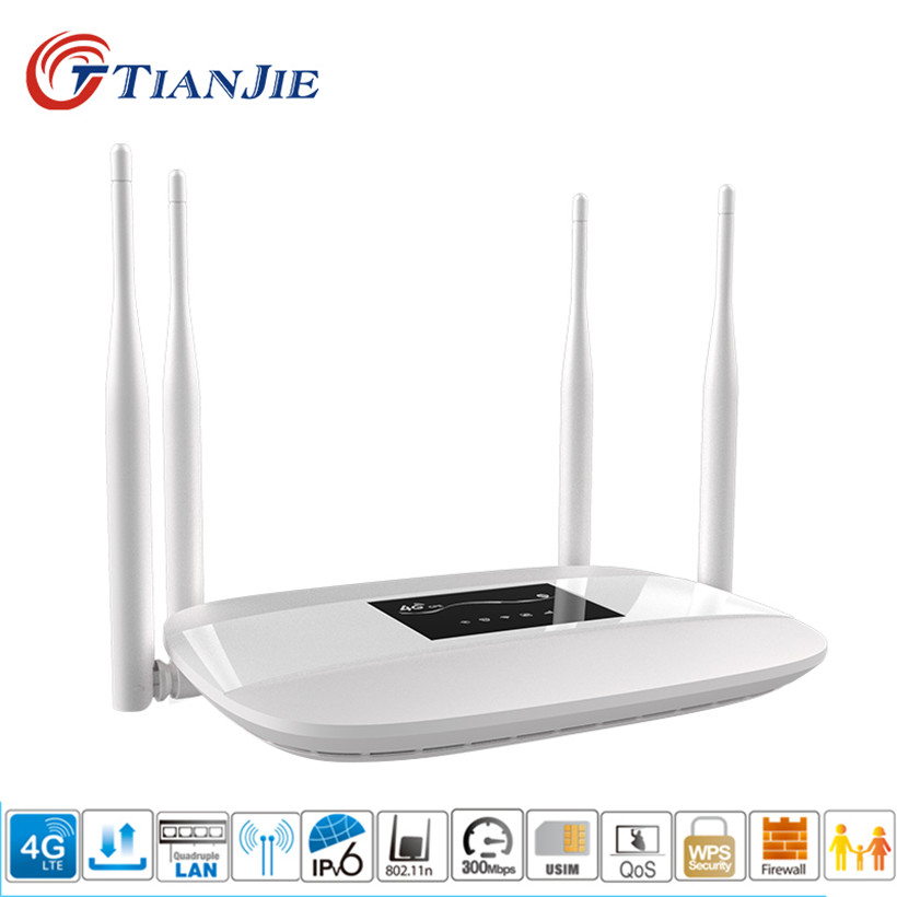 TianJie 4G CPE LTE Wifi Router With Sim 150Mbps Mobile Hotspot Mini Modem Wireless Broadband 3G 4G Portable Wi-Fi Router Gateway