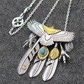 Takahashi Miotaka pena cadeia pingente de ângulo muito garras vento Indiano 925 puro jóias de prata por atacado