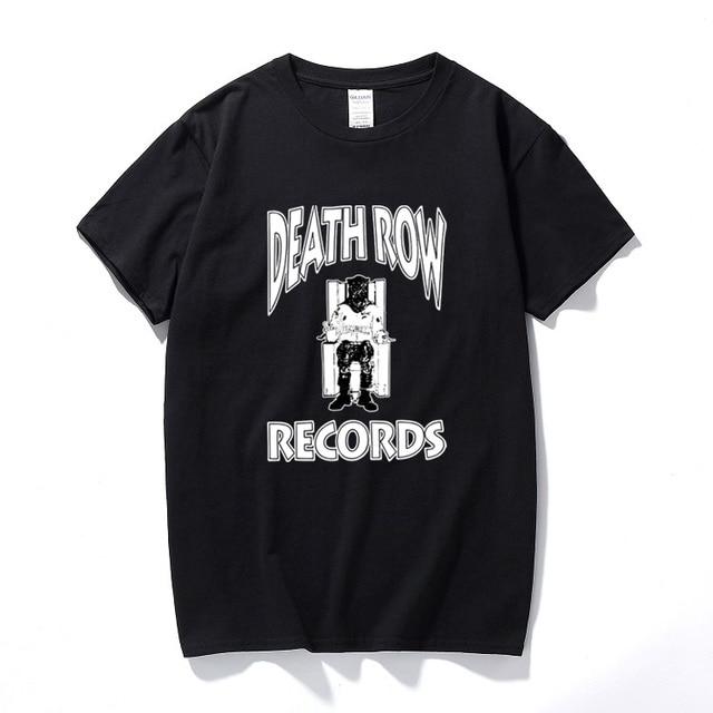 b140e1d4e7a9 DEATH ROW T-SHIRT Rap Tee Hip Hop Graphic 90's Dr. Dre Snoop Dogg West  Coast Summer Casual Short Sleeve T shirt Camisetas Hombre