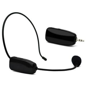 Новый Uhf беспроводной микрофон Профессиональный 2 в 1 ручной головной убор микрофон голосовой усилитель для речевого обучения