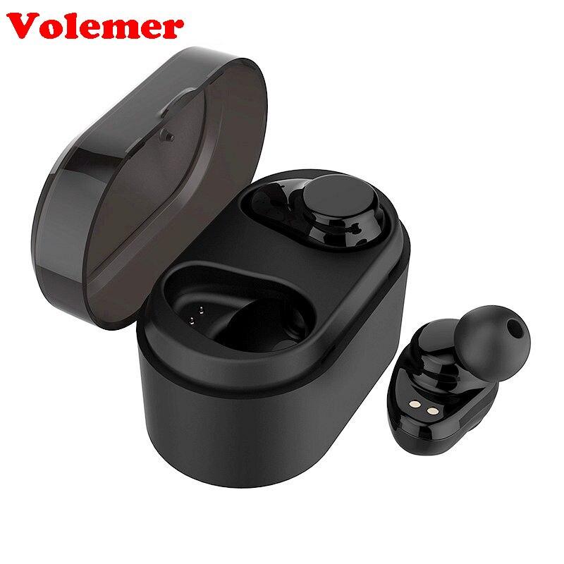 Volemer X7 TWS Bluetooth Earphone True Wireless Stereo Earbuds Sweatproof Bluetooth Headset For