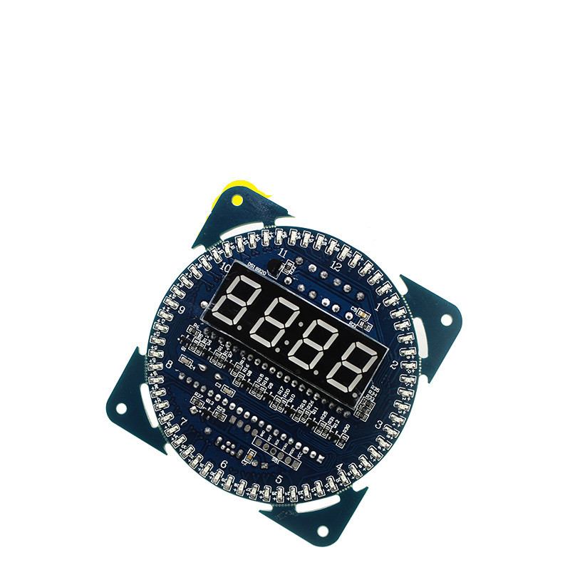 Free shipping 1PCS DS1302 Rotating LED Display Alarm Electronic Clock Module LED Temperature Display rotating ds1302 digital led display module alarm electronic digital clock led temperature display diy kit learning board 5v