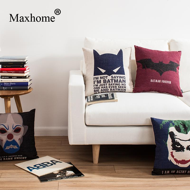 Marvelous American Style Film Surrounding Square Pillowcase Batman Superhero Printed  Cushion Decorative Pillow Home Decor Throw Pillow