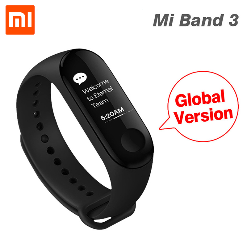 [Globale Version] Original Xiao mi mi band 3 mi band 3 Herz Rate Monitor Fitness Tracker 0,78'' OLED Display Für Android IOS