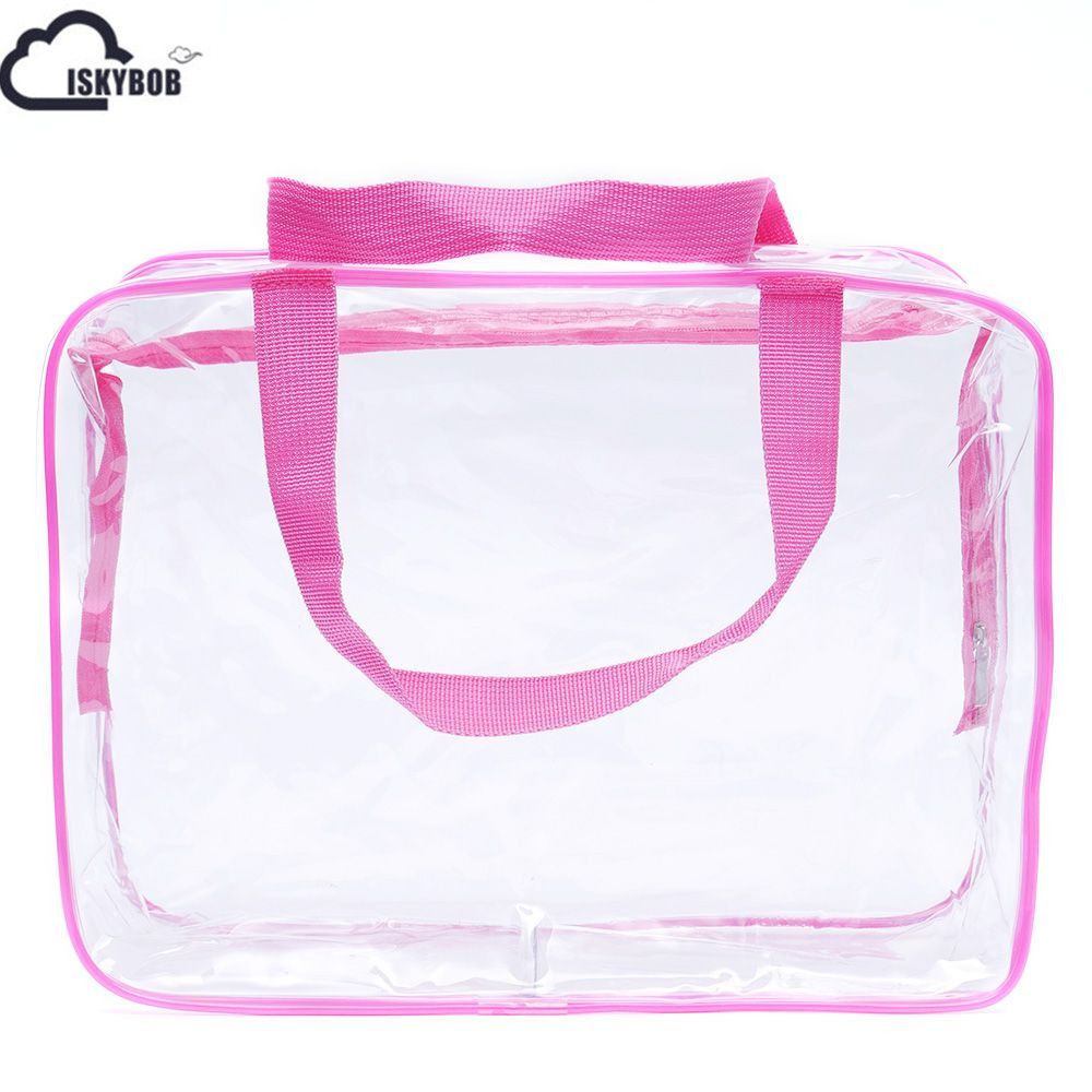 eb4d092d03 New Set of 3Pcs Cosmetic Makeup Toiletry Clear PVC Travel Wash Bag Holder  Pouch Kit-in Cosmetic Bags   Cases from Luggage   Bags on Aliexpress.com