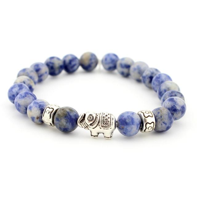 Natural Stone Bead Buddha Bracelets  For Women Men Jewelry 4