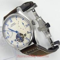 43mm PARNIS Energy Display Flywheel Automatic Mechanical Men S Watch