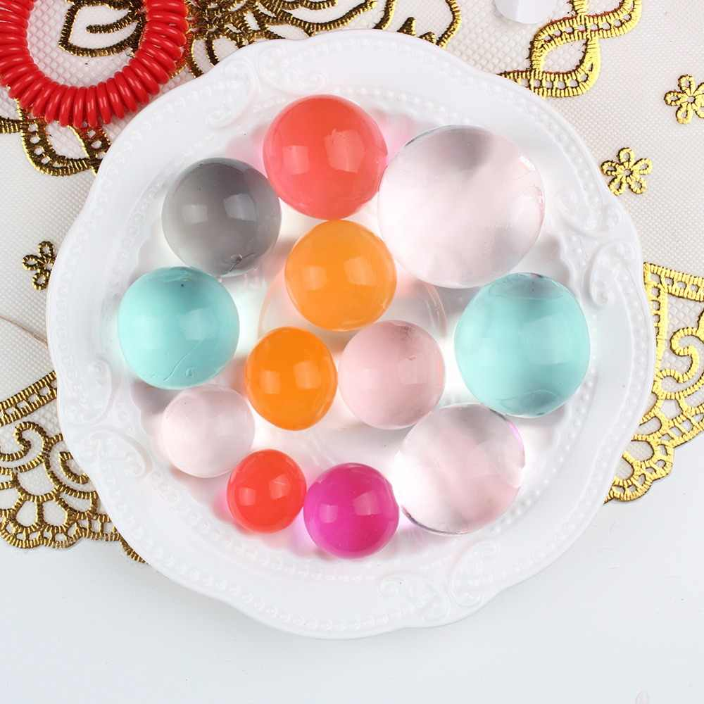 About 15pcs Big Orbiz Growing Bulbs 5-12mm Hydrogel Grow in Water Colorful Water Beads Crystal Soil for Home Decoration
