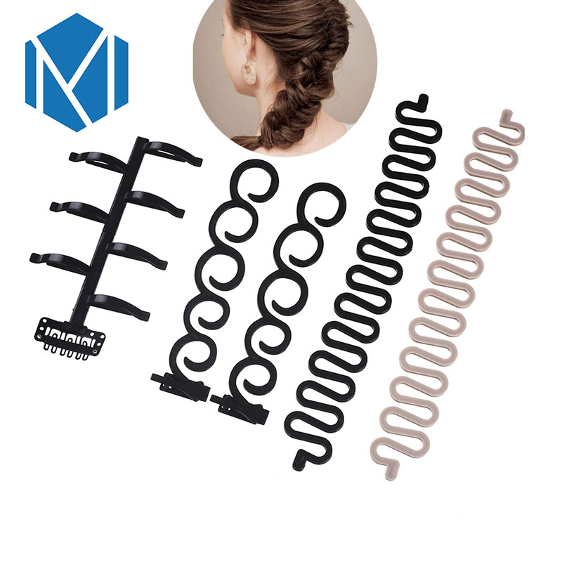 M MISM Hot Hair Styles Maker Tress Tool Hair Accessories Bands Hair Disk Easy Simple For Women Girls Party Wedding Festival