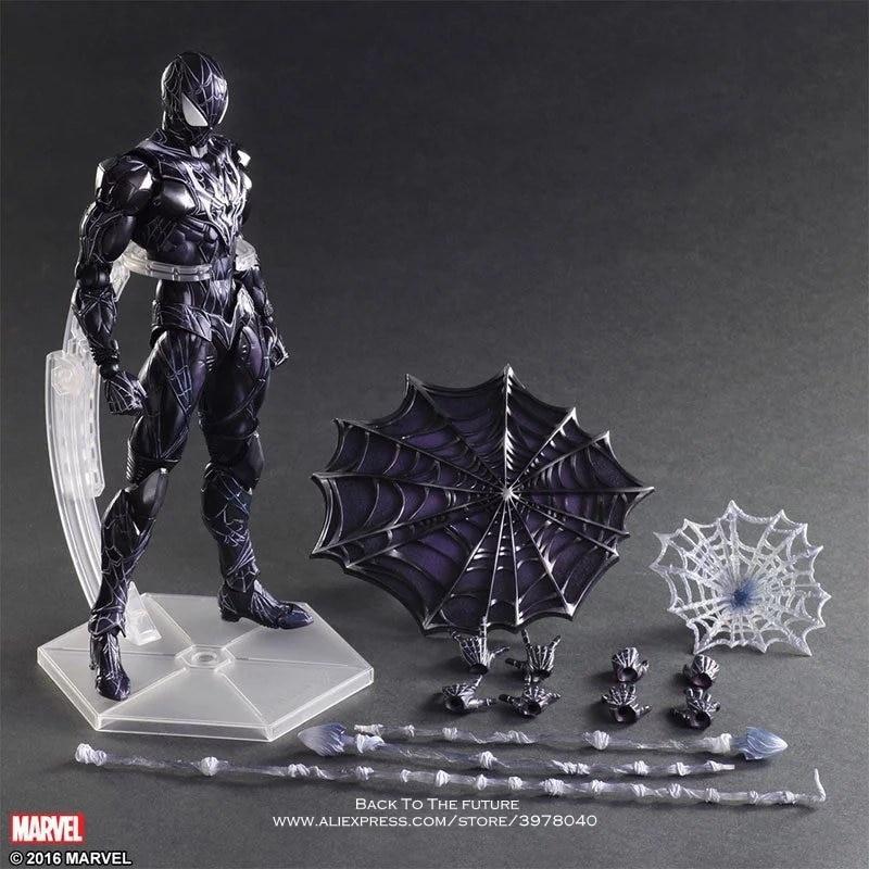 Disney Marvel Avengers Black Spider Man 26.5cm Action Figure Posture Model Anime Decoration Collection Figurine Toy model gift цена