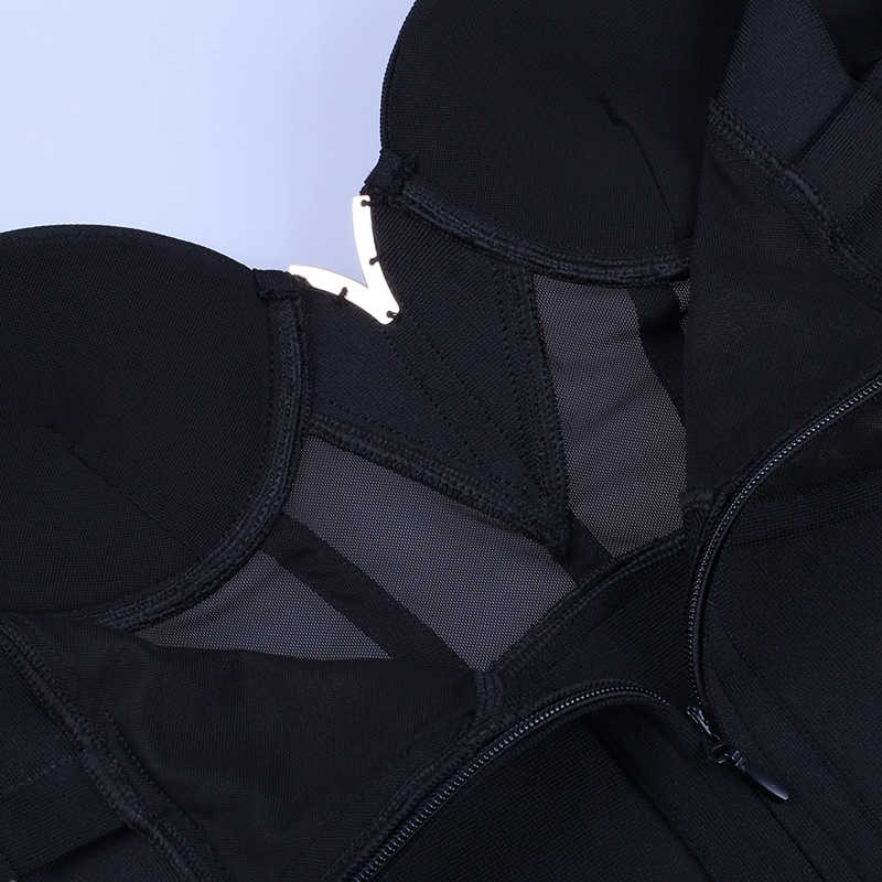 Ocstrade летний сексуальный район Бандажное платье 2019 Новое поступление сетка вставка женское Бандажное платье Черный Вечерние обтягивающий для ночного клуба платье