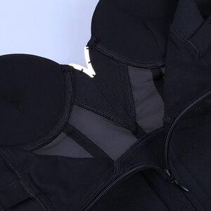 Image 5 - Ocstrade Sexy di Estate Rayon Vestito Dalla Fasciatura 2020 Nuovi Arrivi Inserti in Rete Dalla Fasciatura Delle Donne Vestito Nero Vestito Da Partito Night Club Vestito Aderente